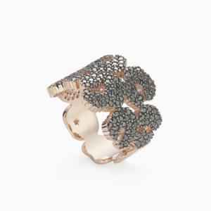 טבעת ANCIENT AMERICA בינונית בזהב ורוד ויהלומים