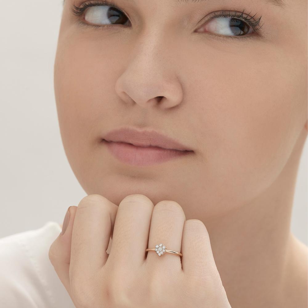 טבעת MYCOLLECTION בזהב ורוד ויהלומים