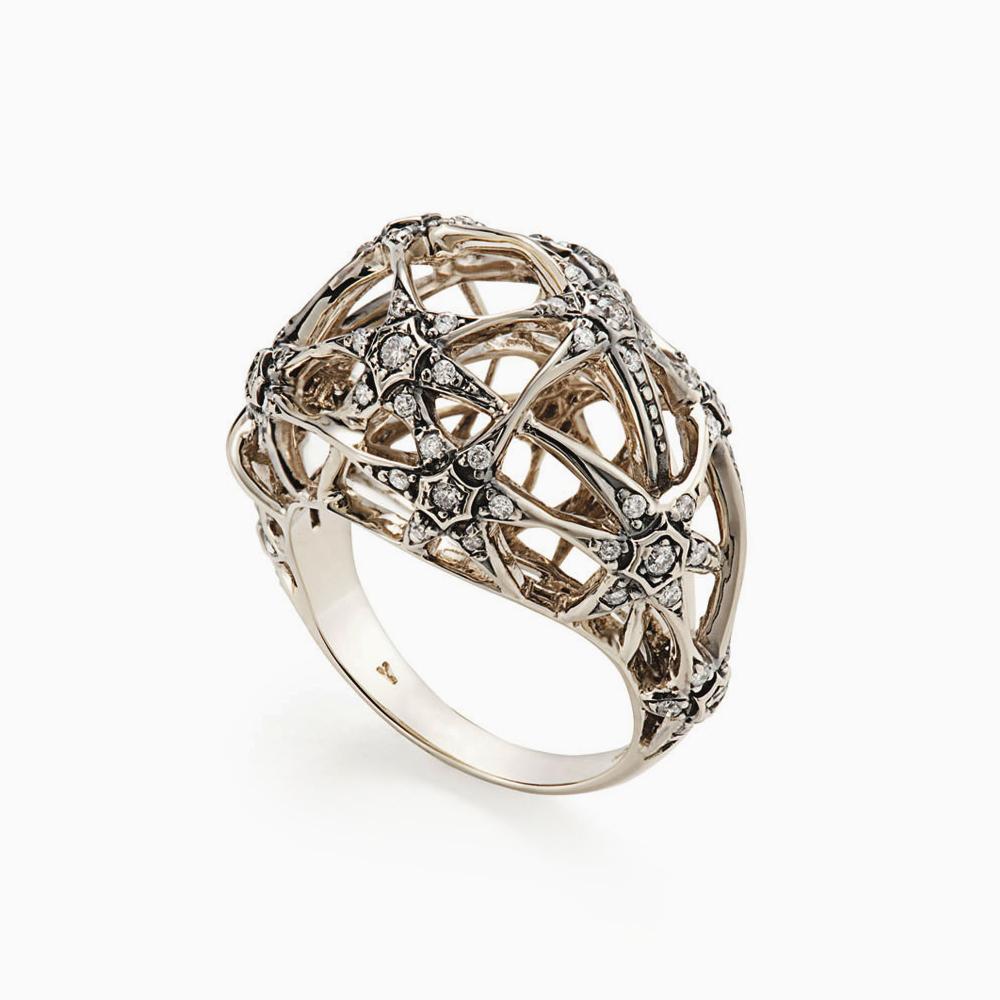 טבעת GALILEI בזהב אצילי ויהלומים