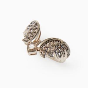 טבעת כנפיים ROCK SEASON קטנה בזהב אצילי ויהלומים
