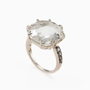 טבעת MOONLIGHT בזהב אצילי, קריסטל ויהלומים