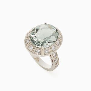 טבעת ARENA גדולה בזהב אצילי, פרזולייט ויהלומים