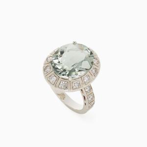 טבעת ARENA קטנה בזהב אצילי, פרזולייט ויהלומים