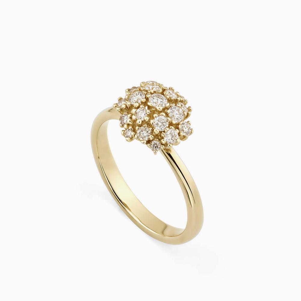 טבעת DIAMOND BOUQUET בזהב צהוב ויהלומים