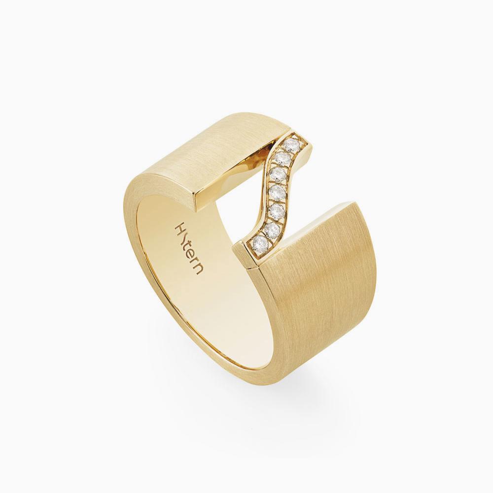 טבעת SIGNATURE HS בזהב צהוב ויהלומים