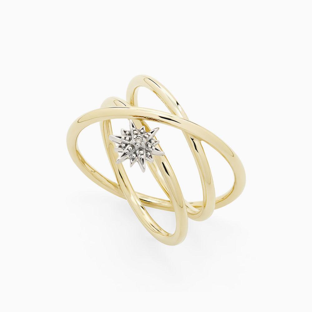 טבעת PEARLS OF GENESIS בזהב צהוב, זהב אצילי ויהלומים
