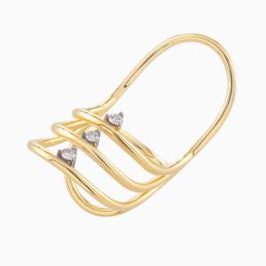 טבעת  SIMPLECHIC בזהב צהוב ויהלומים