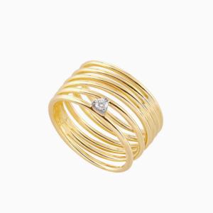 טבעת SIMPLECHIC קטנה בזהב צהוב ויהלום