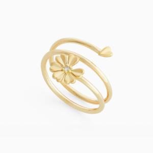 טבעת MYCOLLECTION בזהב צהוב ויהלום
