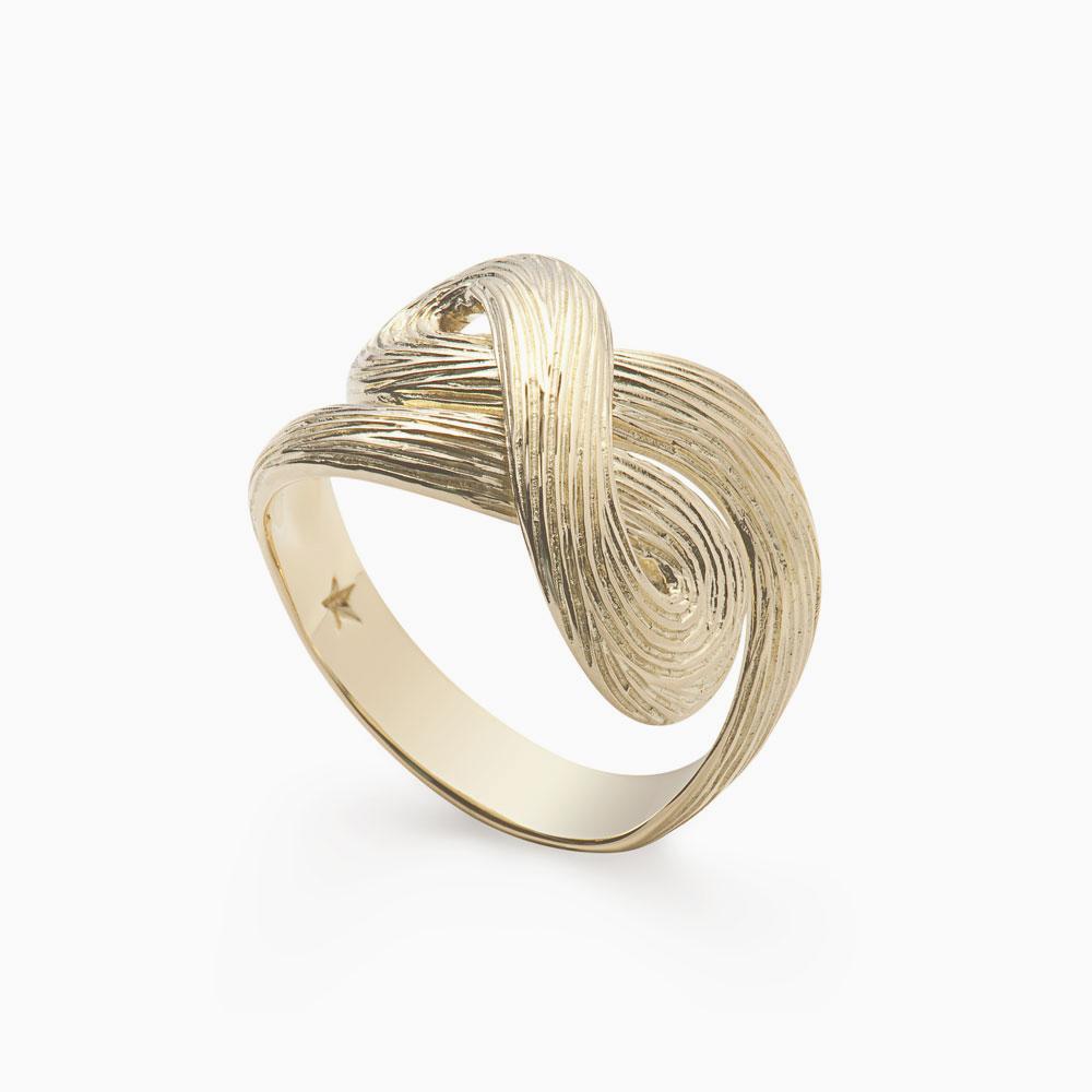 טבעת CELTIC DUNES קטנה בזהב צהוב