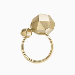טבעת GALILEI קטנה בזהב צהוב