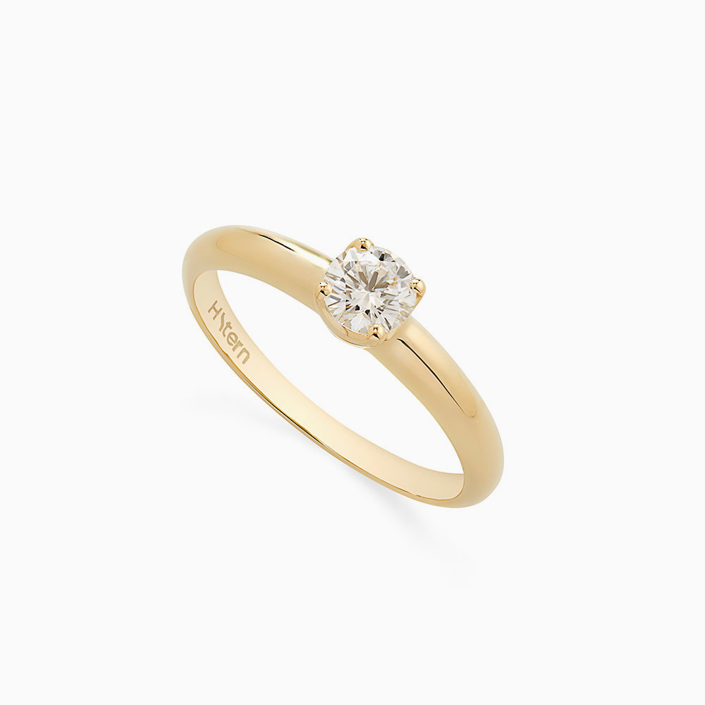 טבעת סוליטייר ANTARES בזהב צהוב 0.33 קראט