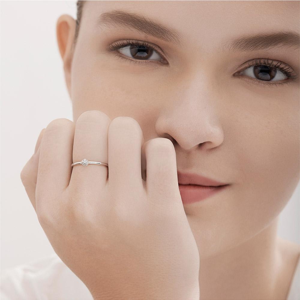 טבעת MYCOLLECTION בזהב לבן ויהלומים
