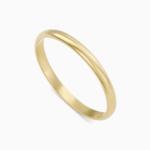 טבעת נישואין קלאסית צרה בזהב צהוב