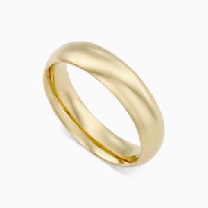 טבעת נישואין קלאסית רחבה בזהב צהוב