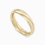 טבעת נישואין קלאסית בזהב צהוב