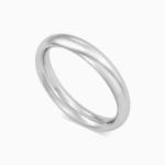 טבעת נישואין קלאסית בזהב לבן
