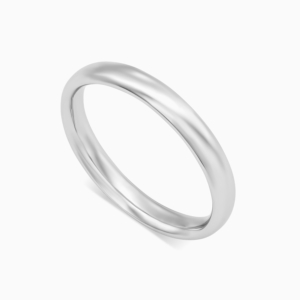 טבעת נישואין קלאסית צרה בזהב לבן