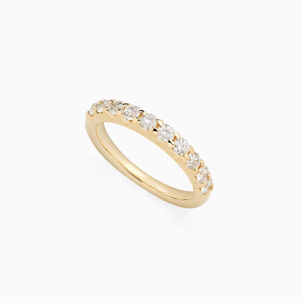 טבעת HALF BAND במשקל 0.35 קראט בזהב צהוב