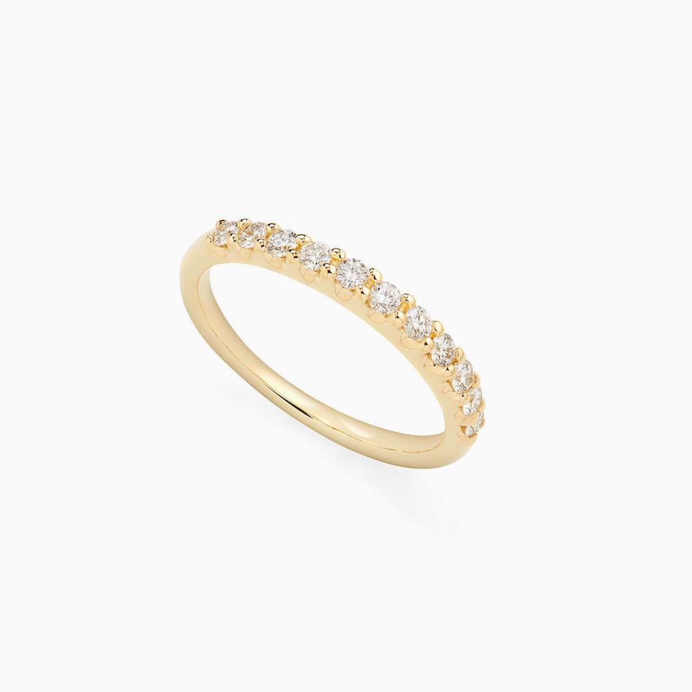 טבעת HALF BAND במשקל 0.44 קראט בזהב צהוב