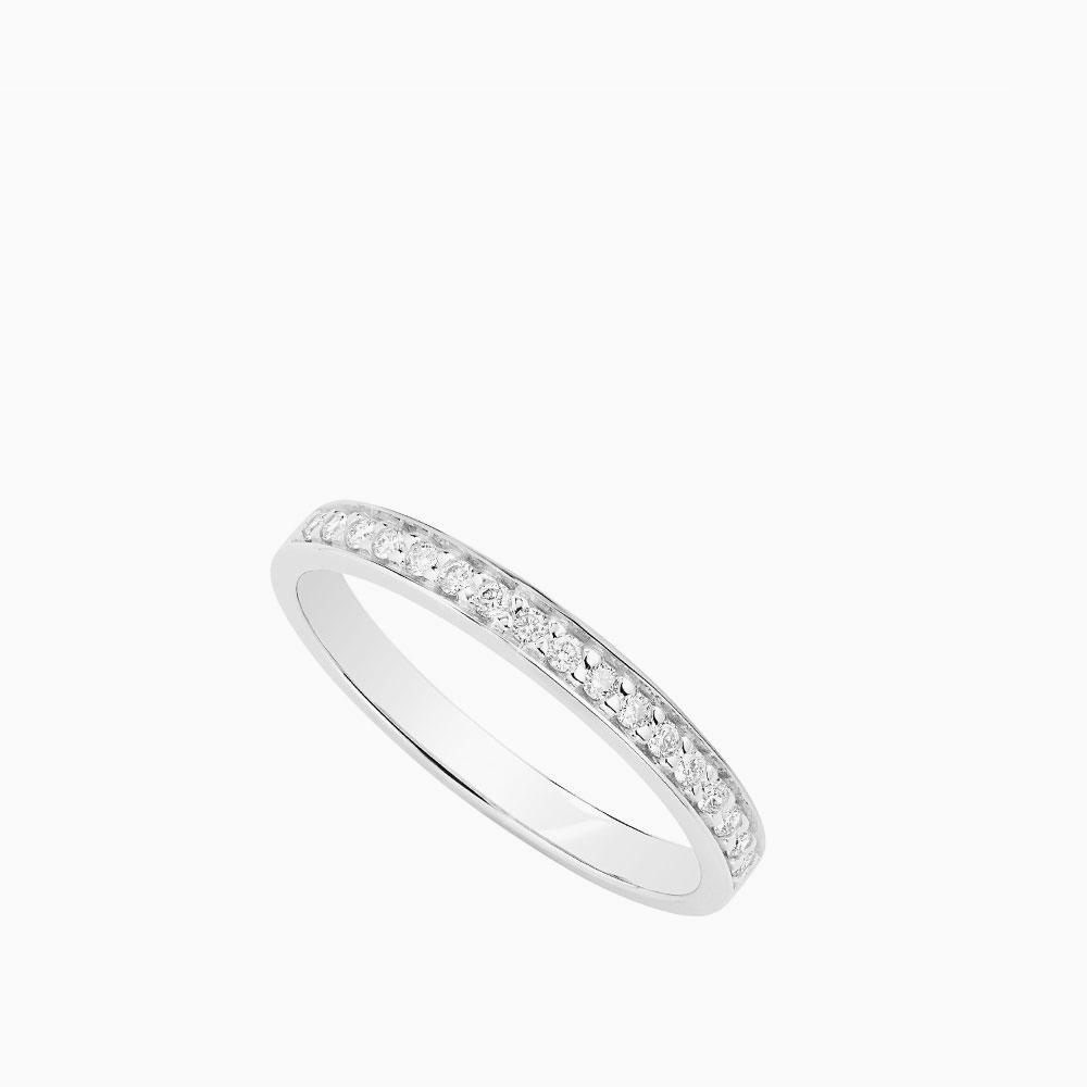 טבעת HALF BAND במשקל 1.42 קראט בזהב לבן