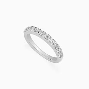 טבעת HALF BAND במשקל 0.35 קראט בזהב לבן