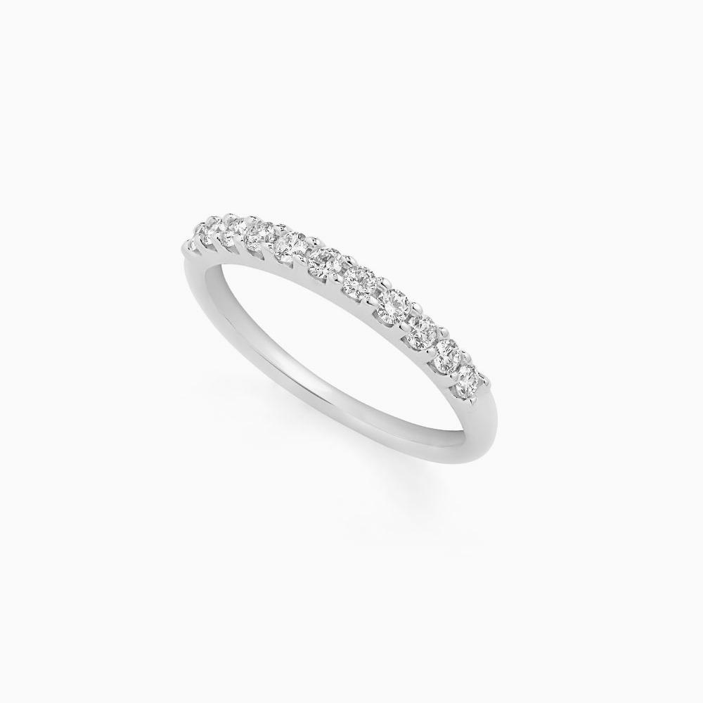 טבעת HALF BAND במשקל 0.44 קראט בזהב לבן