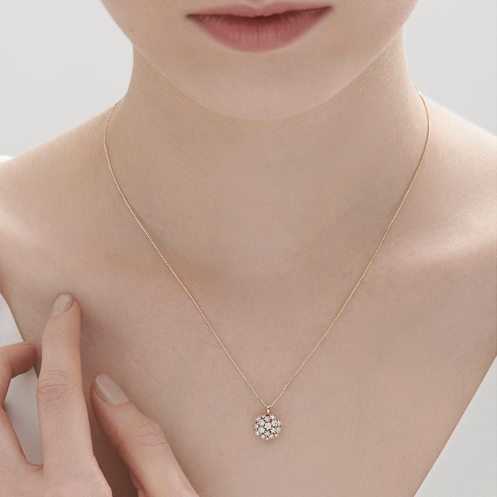 שרשרת DIAMOND BOUQUET בזהב צהוב ויהלומים