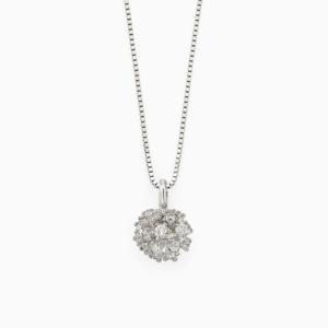 שרשרת DIAMOND BOUQUET בזהב לבן ויהלומים